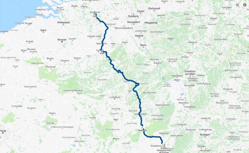 route-straatsburg