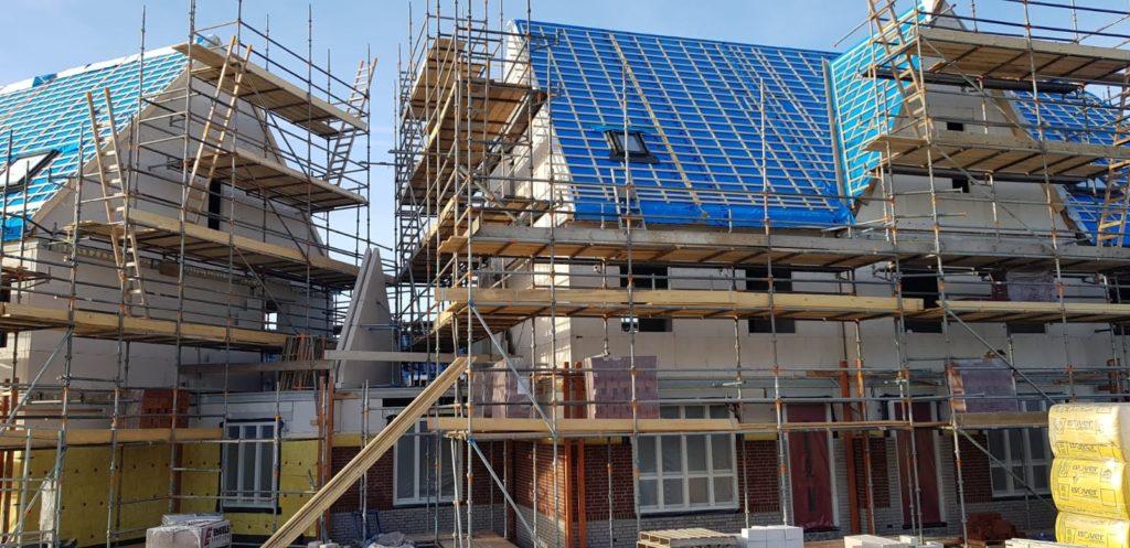nieuwbouw huis in aanbouw