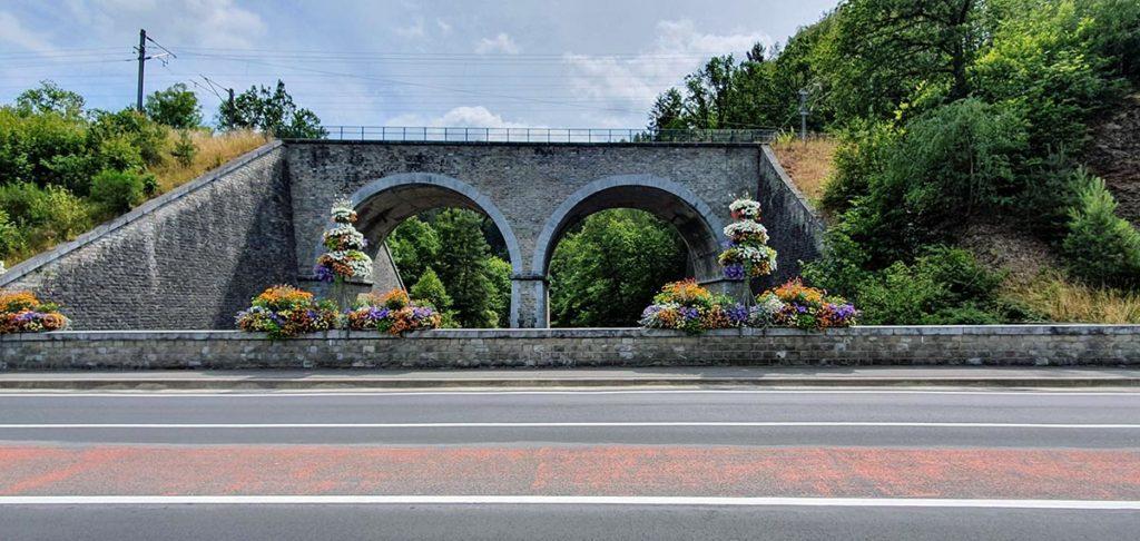 brug met treinrails